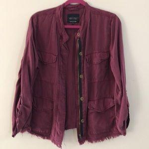Sanctuary Wine colored jacket. Size L